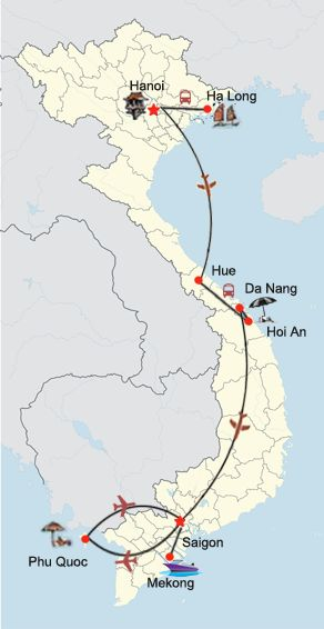 Vietnam_Highlights_Route